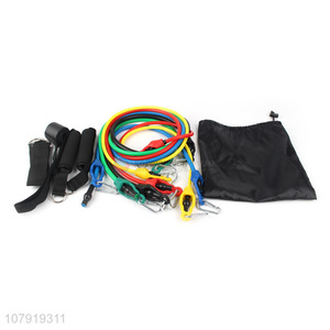 Wholesale Sports Home Fitness Equipment Sleeves 11Pieces Pull Rope