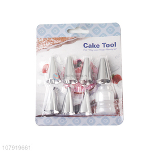Top Quality Stainless Steel Cake Icing Nozzles With Converter Set