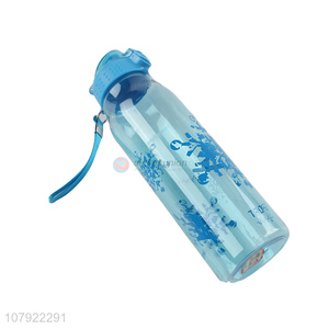 Factory wholesale blue plastic drinking bottle for students
