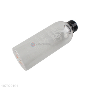 Factory customized grey plastic portable sports bottle