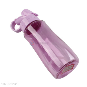 China export purple plastic cup universal portable sports bottle